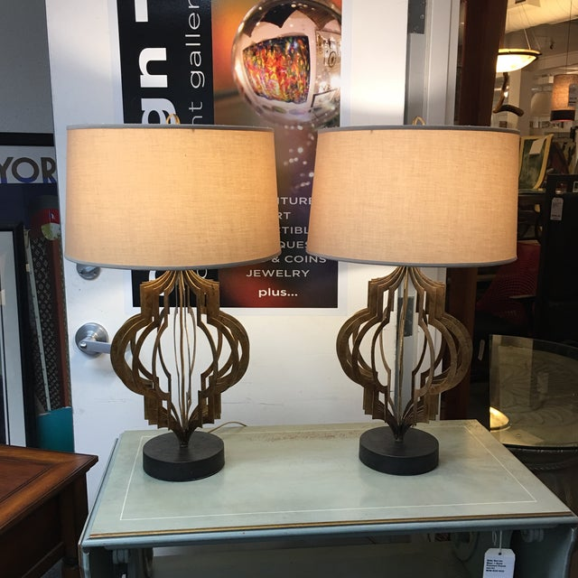 Regina Andrew Patter Maker Gold Table Lamps - A Pair - Image 2 of 9