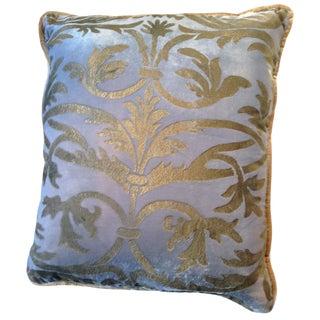 Ramage Silk Velvet Pillow For Sale