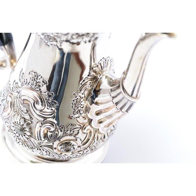 Metal Antique English Sheffield Coffee Pot For Sale - Image 7 of 9