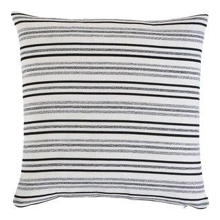 Schumacher Poplar Indoor/Outdoor Pillow in Carbon For Sale