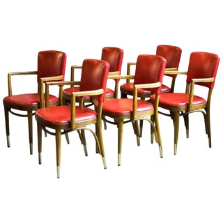 Thonet Bentwood Armchairs, 1950s For Sale