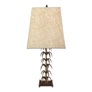 Brutalist Brass Table Lamp ~ Wil Shepherd