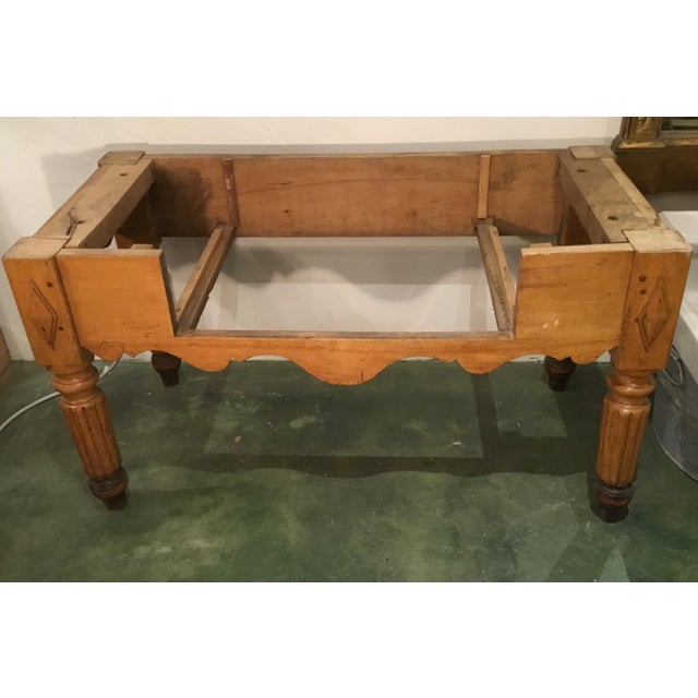 19th C. French Carved Butcher Block Table For Sale - Image 12 of 13