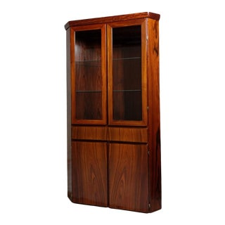 Rosewood Mid Century Corner Cabinet or Bar Skovby For Sale