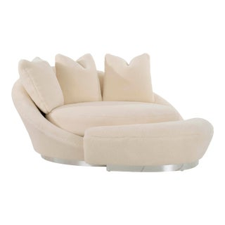 Milo Baughman Satellite Chaise and Ottoman For Sale