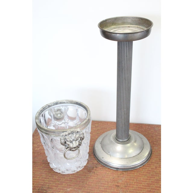 Vintage Mid Century Ice Bucket Pedestal For Sale In New York - Image 6 of 6