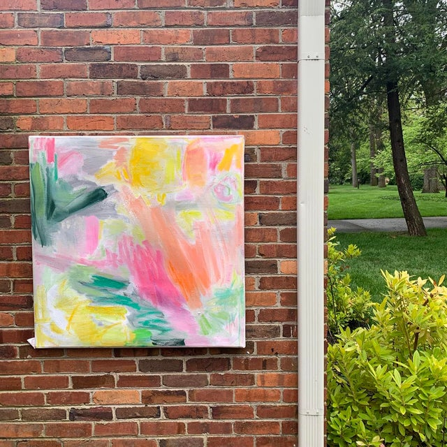 """April Mist"" by Trixie Pitts Abstract Oil Painting For Sale In Nashville - Image 6 of 13"