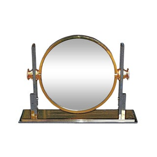 1980s USA Karl Springer Large Convex Mirror For Sale