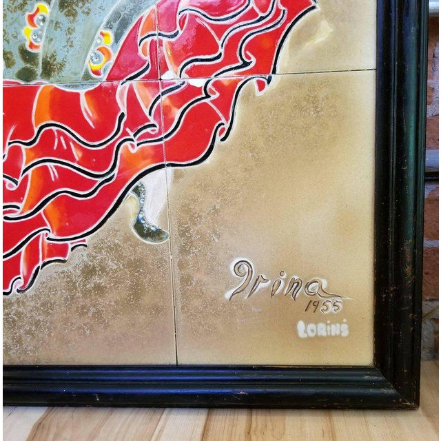 1955 Tango Dancers Wall Tile For Sale - Image 9 of 11