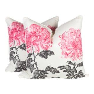 Designer's Guild Tokyo Dahlia Linen Pillows - a Pair