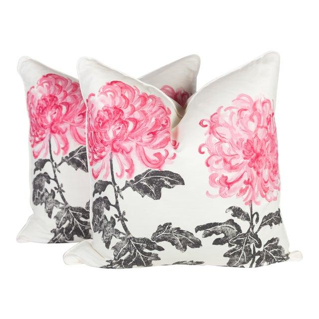 Designer's Guild Tokyo Dahlia Linen Pillows - a Pair For Sale