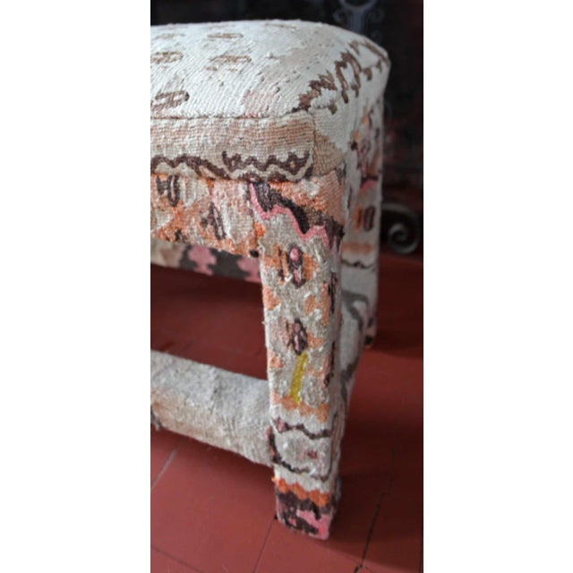 Late 20th Century Kilim Upholstered Bench For Sale - Image 4 of 7