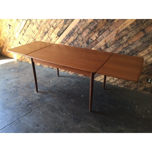 Mid-Century Danish Modern Refinished Dining Table - Image 4 of 8
