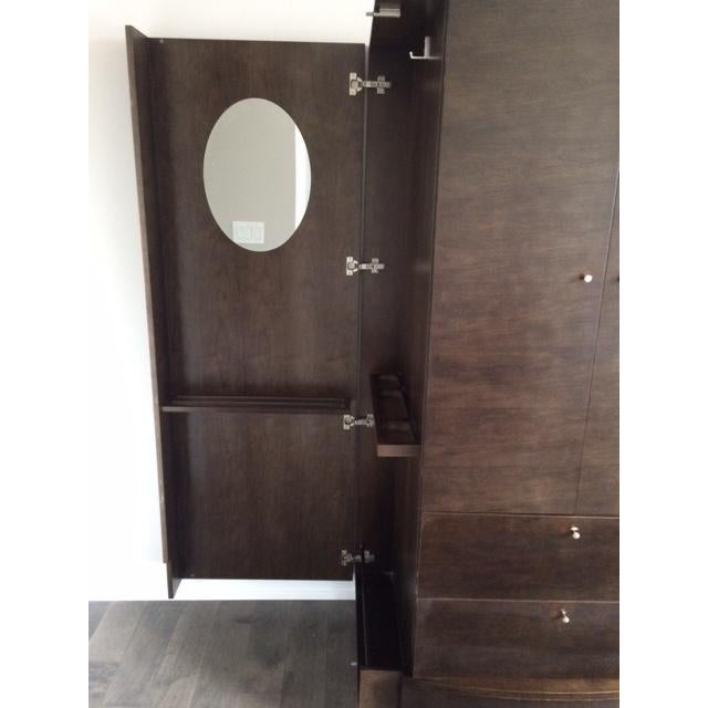 Contemporary Solid Wood Armoire - Image 4 of 4