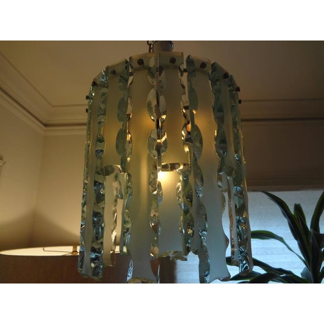 1960's Italian Zero Quattro -Fontana Arte Frosted Glass Lantern or Chandelier For Sale In Houston - Image 6 of 12