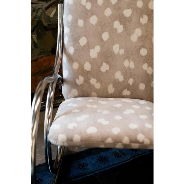 Vintage Chrome Rocking Chair For Sale - Image 10 of 11