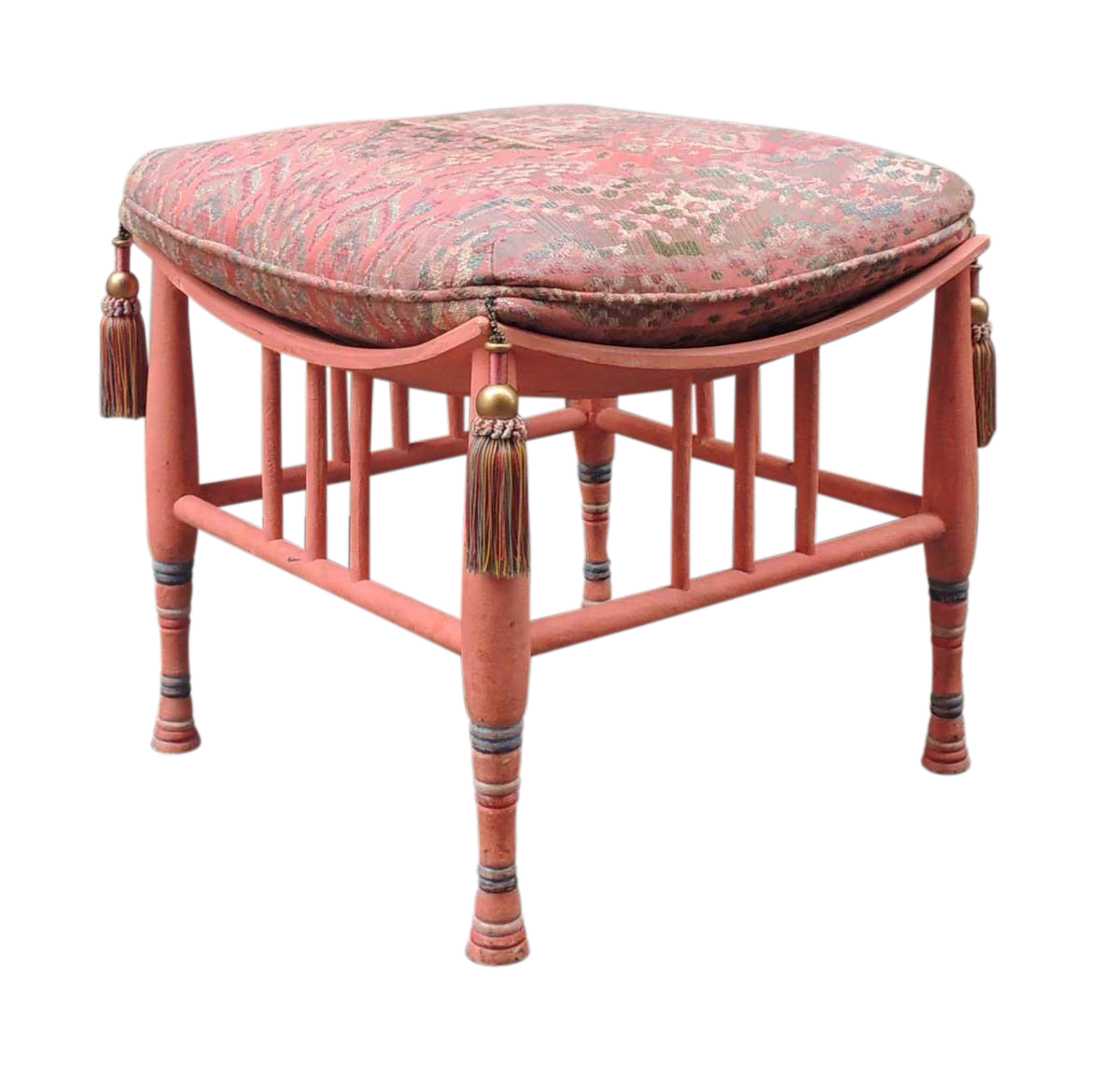 Early 20th C Egyptian Revival Stool Or Ottoman   Image 1 Of 9
