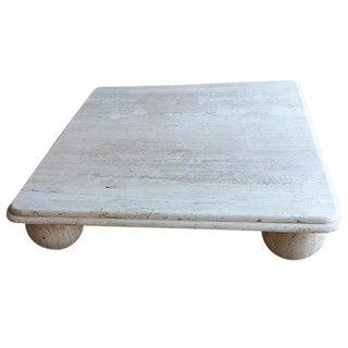 1950s Italian Travertine Maximalist Stone Coffee Table For Sale