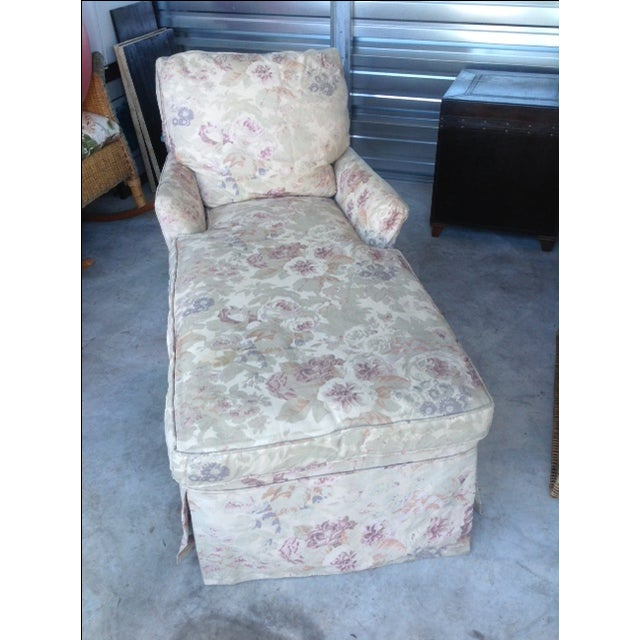 Vintage 1930s Floral Chaise - Image 2 of 7