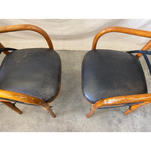 1980s Vintage Thonet Dining Chairs - Set of 4 For Sale - Image 5 of 12