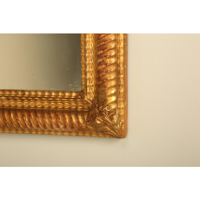 1900 - 1909 Antique French Gilded Mirror For Sale - Image 5 of 9
