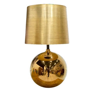 Gold Orb Shaped Table Lamp