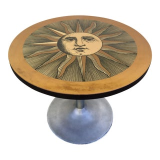 Fornasetti Hand Painted Table With Sun Drawing For Sale
