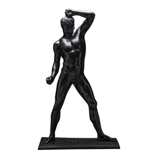 Bronze Sculpture of an Athlete by Antonio Canova For Sale