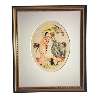 1920 French Lithograph by Xavier Sager For Sale