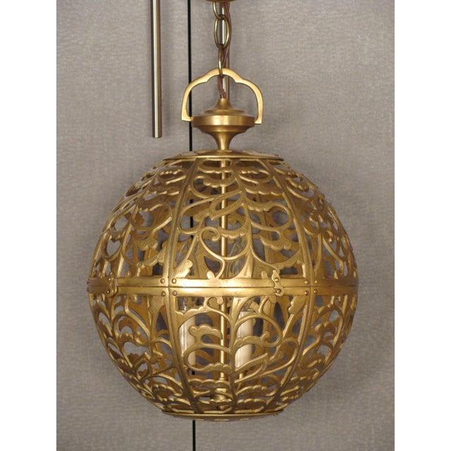 Vintage Brass Globe Light - Image 2 of 6