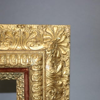 Antique French First Finish Foliate Giltwood and Velvet Art Frame Preview