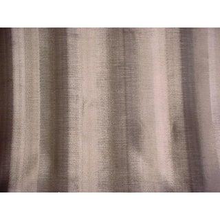 Ralph Lauren Directoire Mink Ombre Stripe Velvet Upholstery Fabric - 12 Yards For Sale
