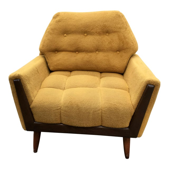 Mid Century Adrian Pearsall Angled Walnut Lounge Chair - Image 1 of 6