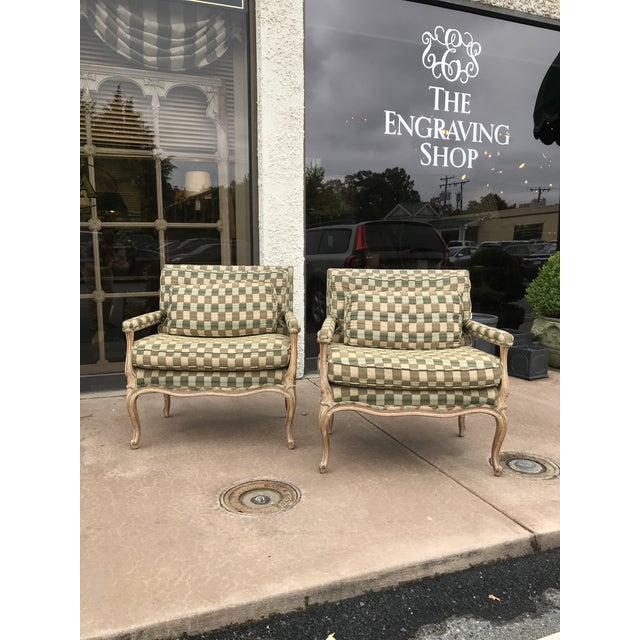 Green Vintage Bergere Side Chairs - a Pair For Sale - Image 8 of 8