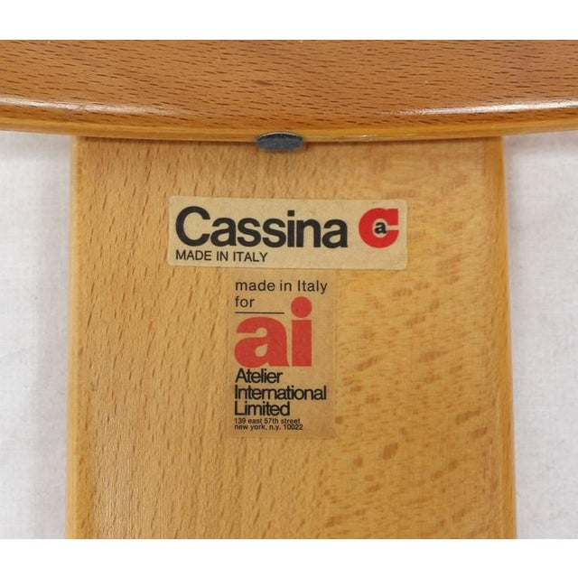 Mid-Century Modern Cassina Set of Four Nesting Round Tables For Sale - Image 3 of 9