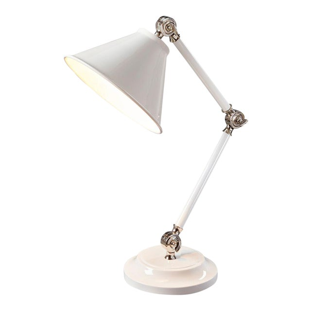 White Provence Element White Mini Table Lamp For Sale - Image 8 of 8