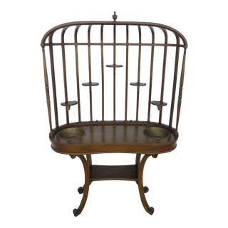 Bird Cage Design Cherry Wood Planet Stand 2363 For Sale
