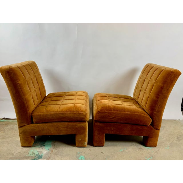 Mid-Century Modern Milo Baughman for Thayer Coggin Slipper Chairs - a Pair For Sale - Image 3 of 8