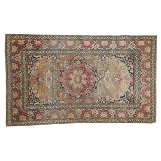 "Antique Isfahan Rug - 4'2"" x 6'10"" For Sale"
