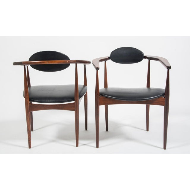 Adrian Pearsall Craft Associates Mid Century Black Leather 950 Chairs - a Pair For Sale - Image 10 of 13
