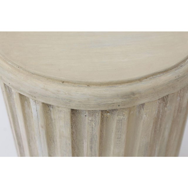 Painted Pedestal Table For Sale - Image 9 of 12