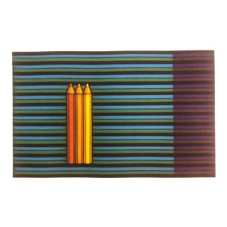 "Kazuhisa Honda Color Mezzotint ""Three Pencils,"" 1983 For Sale"