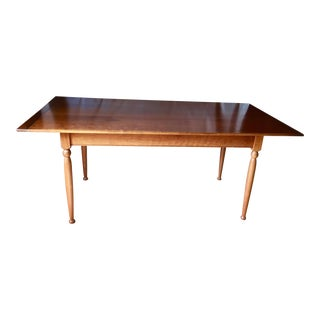 Vintage Cherry Wood Dining Table For Sale