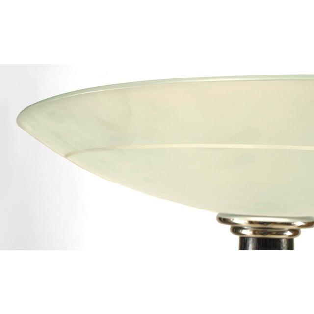 Italian Ebonized Chrome Trimmed Ebonized Floor Lamp For Sale - Image 4 of 6