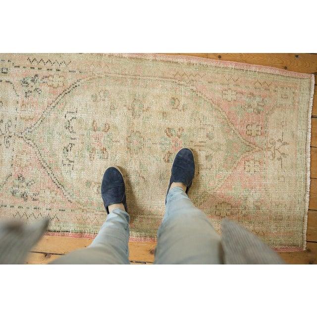 "Green Vintage Distressed Oushak Rug Runner - 2'8"" X 4'9"" For Sale - Image 8 of 9"