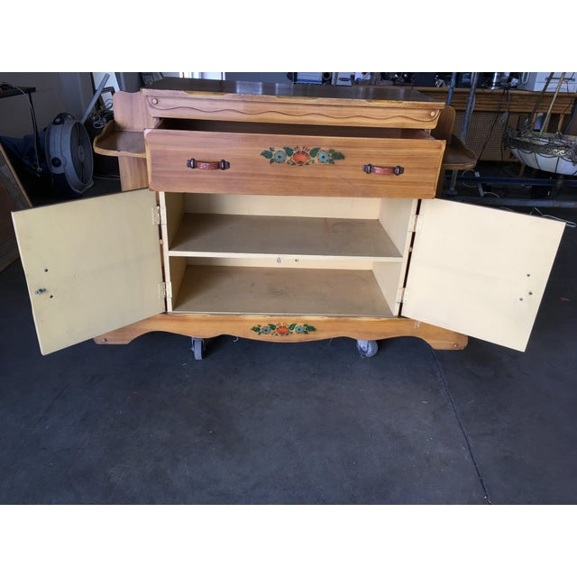 """1950s Atomic Age """"La Fiesta"""" Western Sideboard by Monterey Furniture For Sale - Image 5 of 9"""
