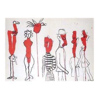 """""""Derriere Le Miroir # 163"""" Calder Original Lithograph"""