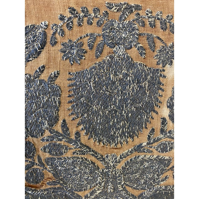 Early 20th Century Antique Mirror on Fabric For Sale - Image 4 of 7