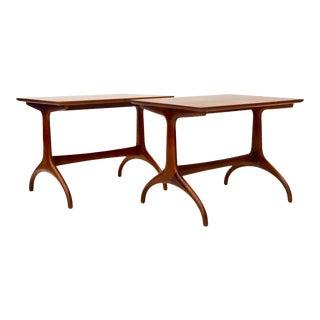 Mid Century Modern Henredon Horn Leg Side Table 1950s For Sale
