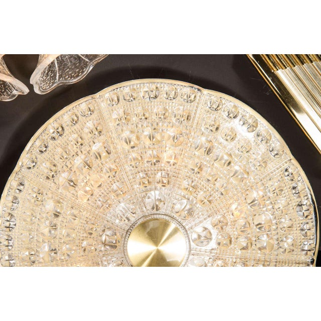 Orrefors Mid-Century Modernist Flush Mount Chandelier by Carl Fagerlund for Orrefors For Sale - Image 4 of 7